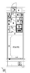 Osaka Metro堺筋線 天神橋筋六丁目駅 徒歩10分の賃貸マンション 4階1Kの間取り