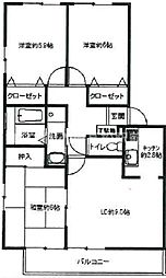 フォブール東山崎 A棟[2階]の間取り