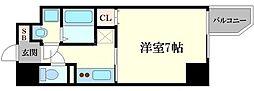 エスリード福島ラグジェ 6階1Kの間取り