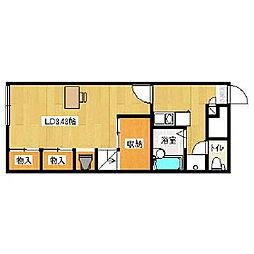 レオパレス三田D館[2階]の間取り