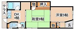 兵庫県神戸市長田区二葉町4丁目の賃貸アパートの間取り
