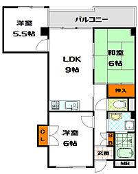 高津サニーハイツ[3階]の間取り
