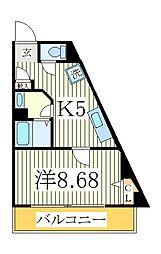 パンスターチス[5階]の間取り