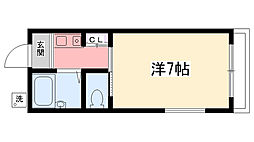兵庫県西宮市甲風園3丁目の賃貸アパートの間取り