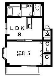 メゾンKR[2階]の間取り