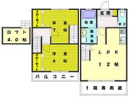 [テラスハウス] 福岡県福岡市東区塩浜1丁目 の賃貸【/】の間取り