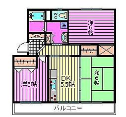 須賀第6ビル[101号室]の間取り