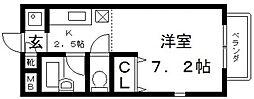 プロパティ中小阪[A201号室号室]の間取り
