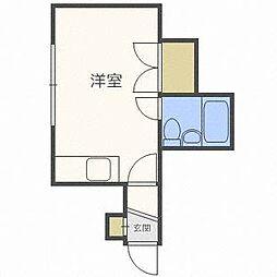 北海道札幌市東区本町二条5丁目の賃貸アパートの間取り