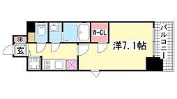エスリード神戸三宮ラグジェ[9階]の間取り