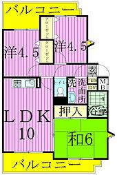 松戸ハイツA[3階]の間取り
