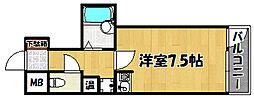 兵庫県明石市西明石南町2丁目の賃貸マンションの間取り