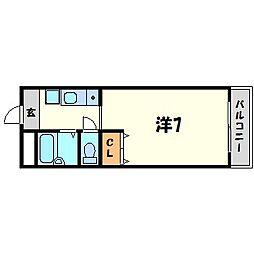ハイツコンフォート[3階]の間取り