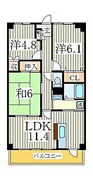 デセンシア柏[3階]の間取り