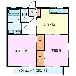 ファミール鮎壺II[1階]の間取り