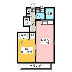 ラ・パルテール平井 八番館[1階]の間取り