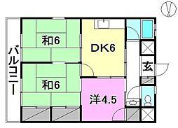 東山マンション[202 号室号室]の間取り