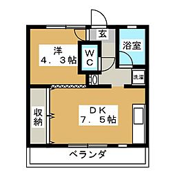 高松荘[3階]の間取り