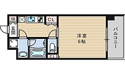 Primavera Nishi Shinsaibashi[805号室]の間取り