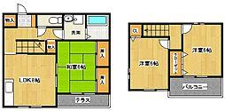 [タウンハウス] 福岡県筑後市大字山ノ井 の賃貸【/】の間取り