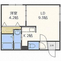 RIRUJYU HIRAGISHI[2階]の間取り