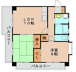 福岡県福岡市東区原田2丁目の賃貸マンションの間取り