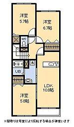 (新築)アドバンスI[2階]の間取り