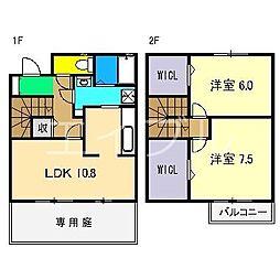 [テラスハウス] 高知県高知市東久万 の賃貸【/】の間取り