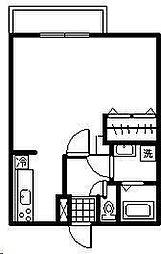 コーポアプロードII[203号室]の間取り
