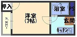 プレアール古川橋IV[1階]の間取り