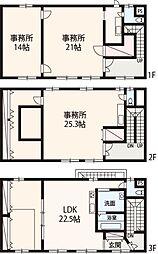 阪南市自然田 事務所兼居宅 3LDKの間取り