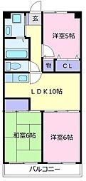 702泉ヶ丘 1階3LDKの間取り