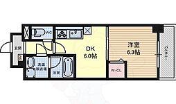 名古屋市営桜通線 高岳駅 徒歩6分の賃貸マンション 2階1DKの間取り