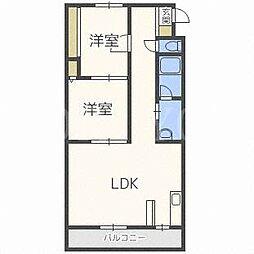 北海道札幌市中央区南二十条西6丁目の賃貸マンションの間取り