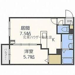北海道札幌市北区北三十六条西2丁目の賃貸マンションの間取り