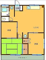 ロワールマンション[201号室]の間取り