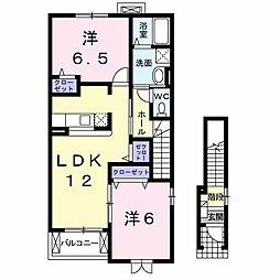 プリムローズ(千本柳)B棟[203号室号室]の間取り