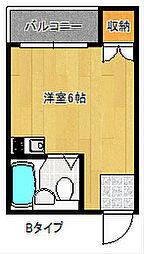 グランソシエ住之江[3階]の間取り