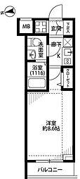 プレール・ドゥーク富士見ヶ丘[1階]の間取り