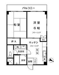東山コーポ[3階]の間取り