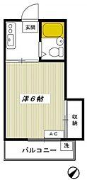 東京都世田谷区経堂2の賃貸アパートの間取り