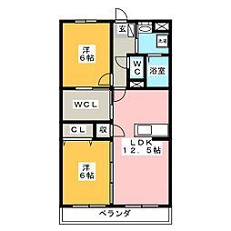 サンフラワー[1階]の間取り