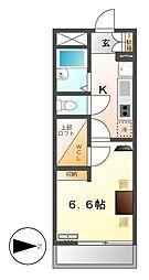 レオパレスセントラルアイ[4階]の間取り