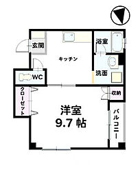 UNI-ONE 3by4[302号室]の間取り