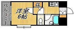アスール南天神[3階]の間取り