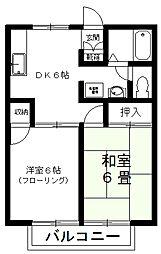 プルミエII[1階]の間取り