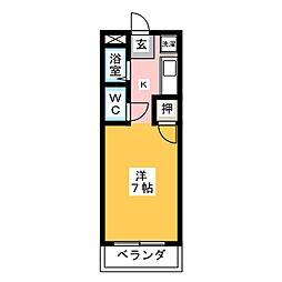 ロイヤルマンション花霞[3階]の間取り