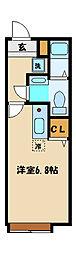 東京都町田市東玉川学園2丁目の賃貸アパートの間取り