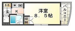 アクティ立花[4階]の間取り