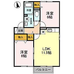 エステートM3[2階]の間取り